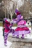 Vermomd Paar - Annecy Venetiaans Carnaval 2013 Royalty-vrije Stock Afbeelding