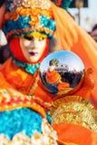 Vermomde mensen in Carnaval van Venetië Royalty-vrije Stock Foto's