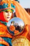 Vermomde mensen in Carnaval van Venetië Royalty-vrije Stock Afbeelding
