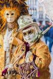 Vermomde mensen in Carnaval van Venetië Royalty-vrije Stock Fotografie