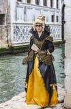 Vermomde vrouw Royalty-vrije Stock Afbeeldingen