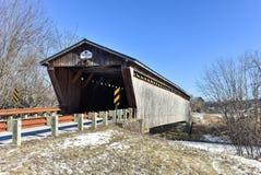 Vermont-überdachte Brücke Stockfoto