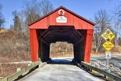 Vermont-überdachte Brücke Stockbilder