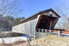 Vermont-überdachte Brücke Lizenzfreies Stockbild