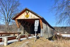 Vermont-überdachte Brücke Lizenzfreie Stockbilder