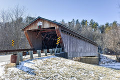 Vermont-überdachte Brücke Stockbild