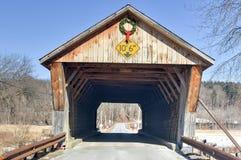 Vermont-überdachte Brücke Lizenzfreie Stockfotos