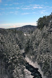 Vermont śnieżna rzeczna zima Obrazy Stock