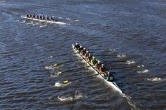 Vermont assenta raças superiores de Uc San Diego na cabeça da faculdade Eights do ` s de Charles Regatta Men Fotografia de Stock
