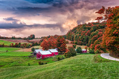 Vermont Autumn Farms. Rural autumn Jenne Farm in Vermont, USA Stock Photography