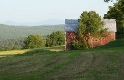 Vermont Barn. Old Barn in Vermont Mountains royalty free stock images