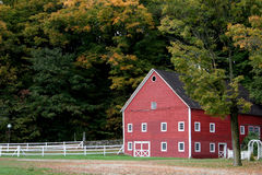 Vermont Barn. Barn and Fence in Vermont Royalty Free Stock Image