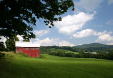 Vermont Barn. Barn in field in Vermont Royalty Free Stock Images