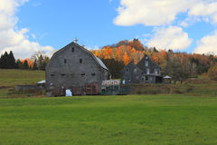 Vermont barn In Autumn. Vermont barn on an autumn day Royalty Free Stock Photos