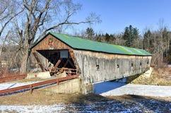 Vermont Behandelde Brug Stock Foto