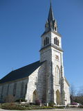 Vermont Catholic Church. A large stone Catholic Church in Vermont Stock Images