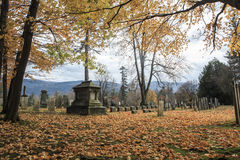 Vermont Cemetery in the Autumn Stock Photo