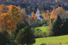 Vermont Church In Autumn Royalty Free Stock Photos