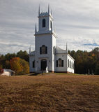 Vermont Church in Fall Stock Photography