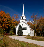 Vermont Church in Fall Stock Image