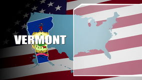 Vermont Countered Flag and Information Panel stock video footage