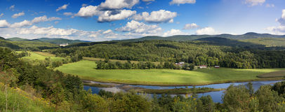 Vermont countryside panorama. Royalty Free Stock Photos