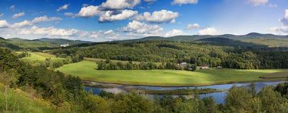 Vermont countryside panorama. Royalty Free Stock Photos