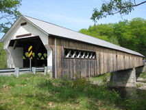 Vermont Covered bridge. A beautiful Vermont covered bridge as seen from the south side. It is 267' long and 22' wide. Built in 1872 in Lattice truss design by Stock Images