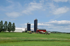 Vermont Dairy Farm. Large dairy farm in rural Vermont on a summer day royalty free stock images