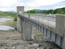 Vermont Dam. The dam in Springfield ,Vt. which was completed in 1960 at a cost of 7 million dollars. The had to sacrifice 40 homes and farms for the building of Stock Photo