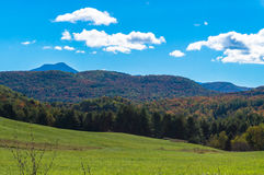 Vermont Fall foliage landscape Royalty Free Stock Image