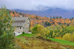 Vermont Fall Foliage, Mount Mansfield, Vermont Royalty Free Stock Images