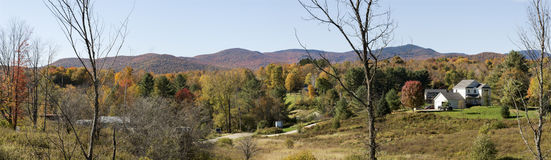 Vermont Autumn Foliage Panorama Stock Photos