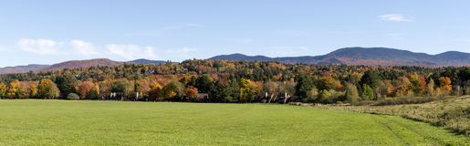 Vermont Autumn Foliage Panorama Stock Image