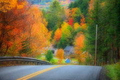 Vermont with fall foliage Stock Photo