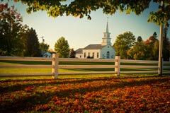Vermont in the fall. Peachem farm scene in Vermont Stock Images