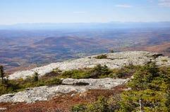 Vermont Falllövverk, montering Mansfield, Vermont royaltyfria foton