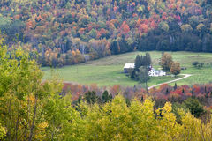 Vermont Farm and Foliage. Farm and fall foliage in Vermont Royalty Free Stock Photography