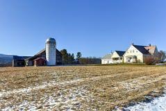 Vermont Farm in the Winter. Grain Store Building on a farm in Vermont in the winter Stock Photo