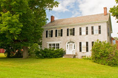 Vermont farmhouse. An old stone Vermont farmhouse in the country Stock Image