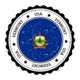Vermont flag badge. Royalty Free Stock Photos