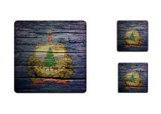 Vermont flag Buttons Stock Photo