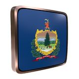 Vermont flag icon. 3d rendering of a Vermont State flag icon with a bright frame. Isolated on white background Stock Images