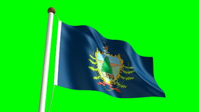 Vermont flag stock footage