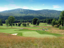 Vermont Golf Course. A beautiful golf course is located in the mountains of Vermont Stock Image