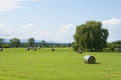 Vermont hay field Royalty Free Stock Photo