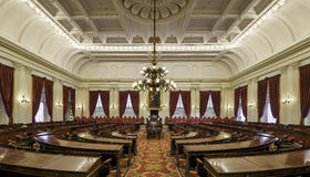 Vermont House Chamber. House of Representatives chamber of the Vermont State House at 115 State Street in Montpelier, Vermont on August 3, 2015 royalty free stock image