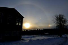 Vermont hus i bergen två Fotografering för Bildbyråer
