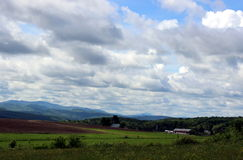 Vermont Lansdcape. Taken from the Canadian Border stock photos