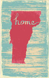 Vermont nostalgic rustic vintage state vector sign Stock Image